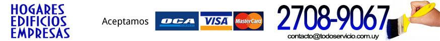 Aceptamos Oca, Visa y Mastercard
